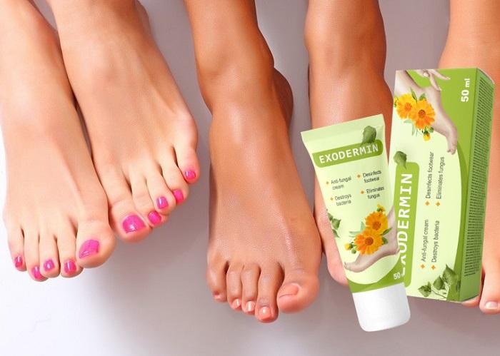 Exodermin a gomba a láb, köröm: megsemmisíti a lábgombot 4 hét alatt!